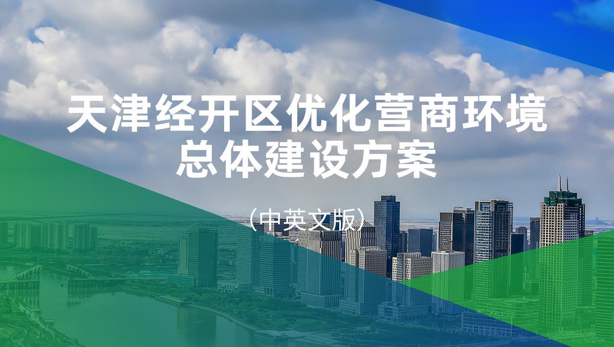 天津经开区优化营商环境总体建设方案